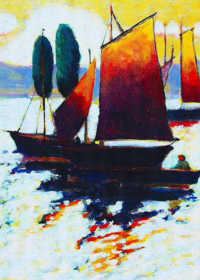 Sunny Sailing Art | Charles Wallis