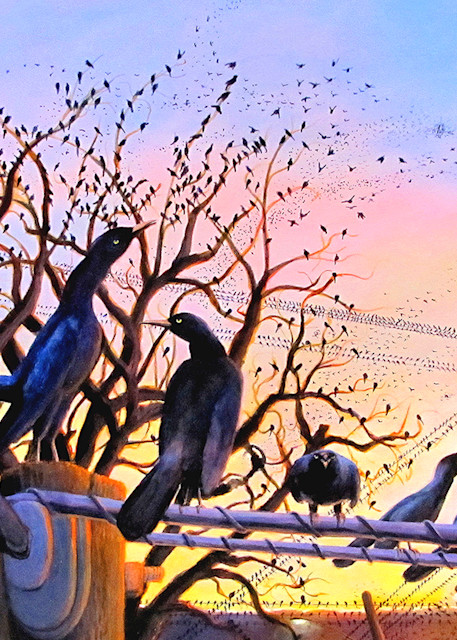 The Grackles Are Coming  Art | Charles Wallis