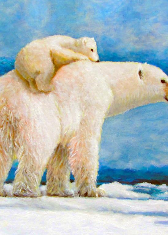 Polar Bear And Cub Art | Charles Wallis