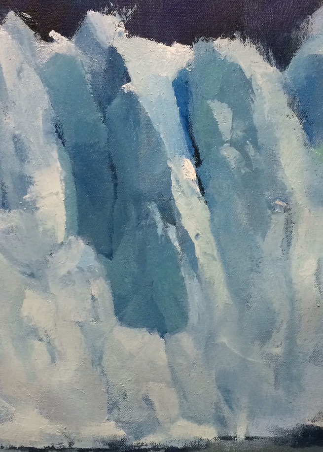 Blue Wall | Glacier Art Print by Antrese Wood
