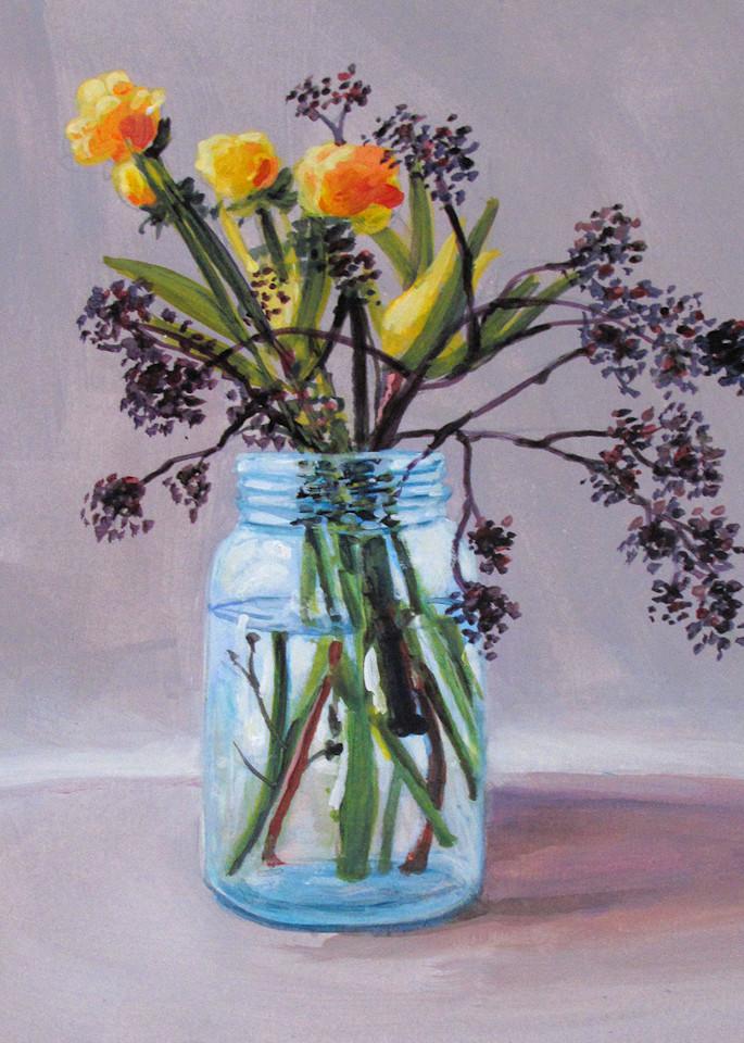 Country Floral Still Life  Art | Charles Wallis