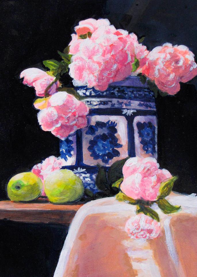Peony Still Life 3 Art   Charles Wallis