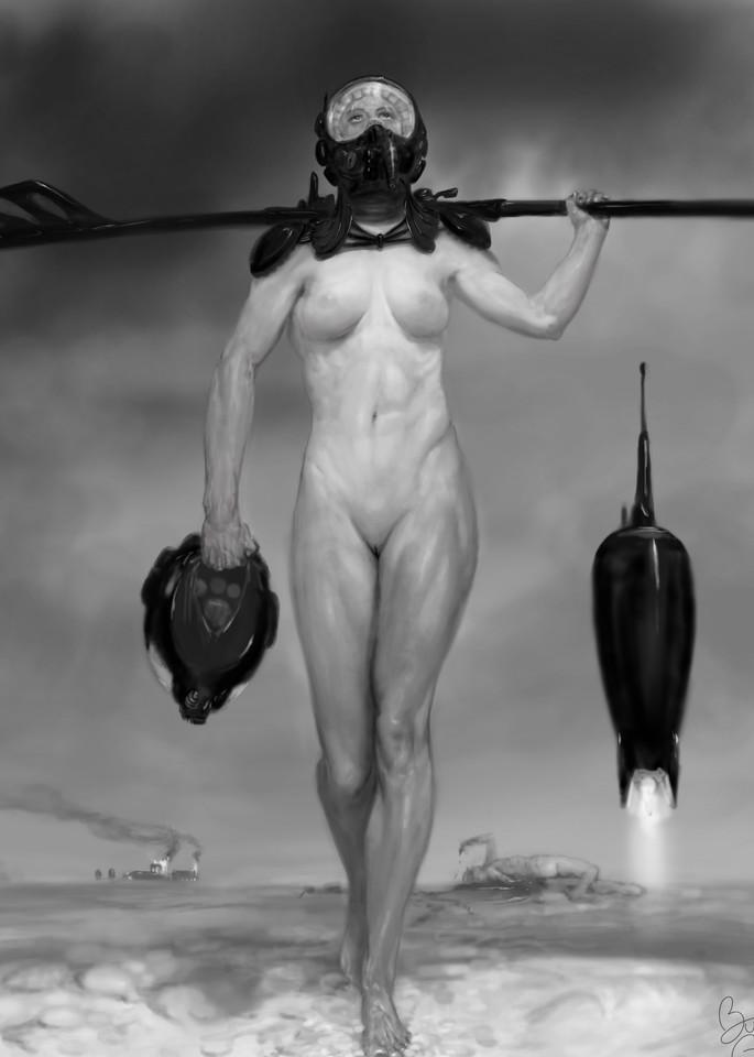 Burton Gray's Semi-dystopian warrior-Rosy