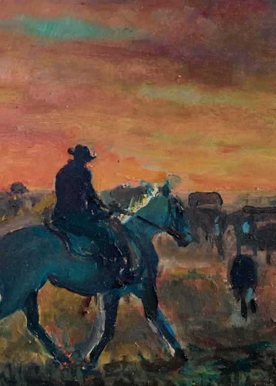 Sunset Round Up  Art | tddeiningeratforzacavallogallery
