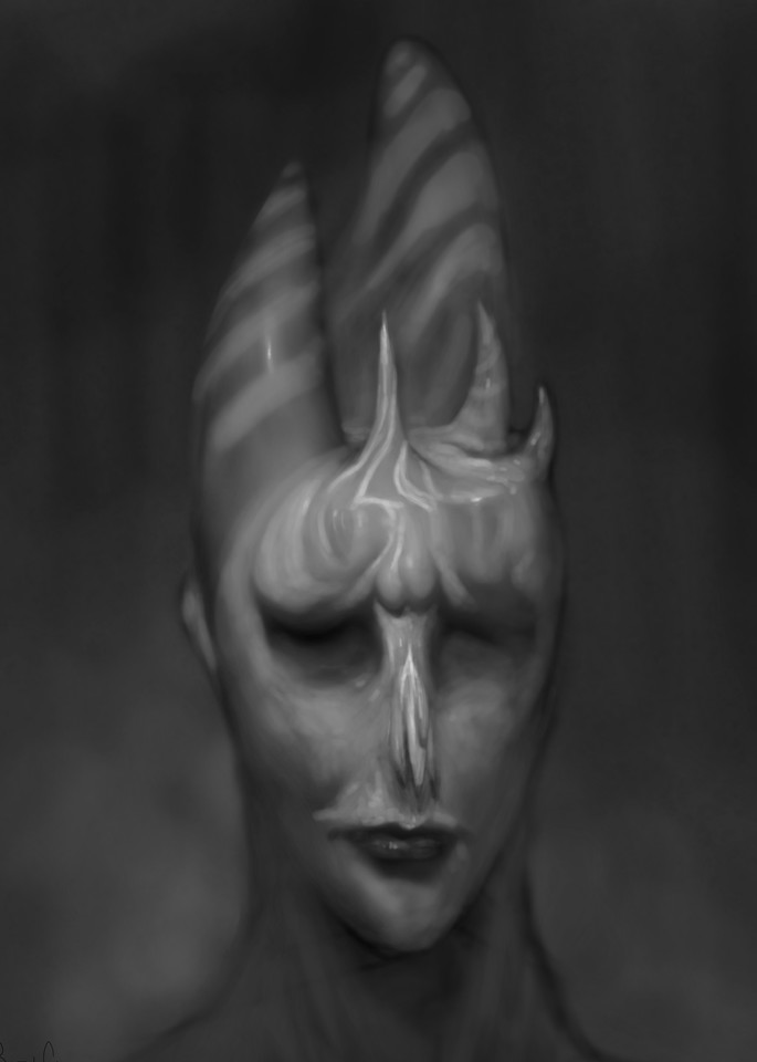 Peppermint Monster Face Art   Burton Gray
