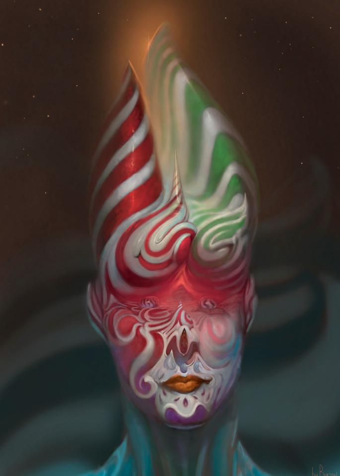 Peppermint Rainbow Face (4:5 Ratio) Art | Burton Gray