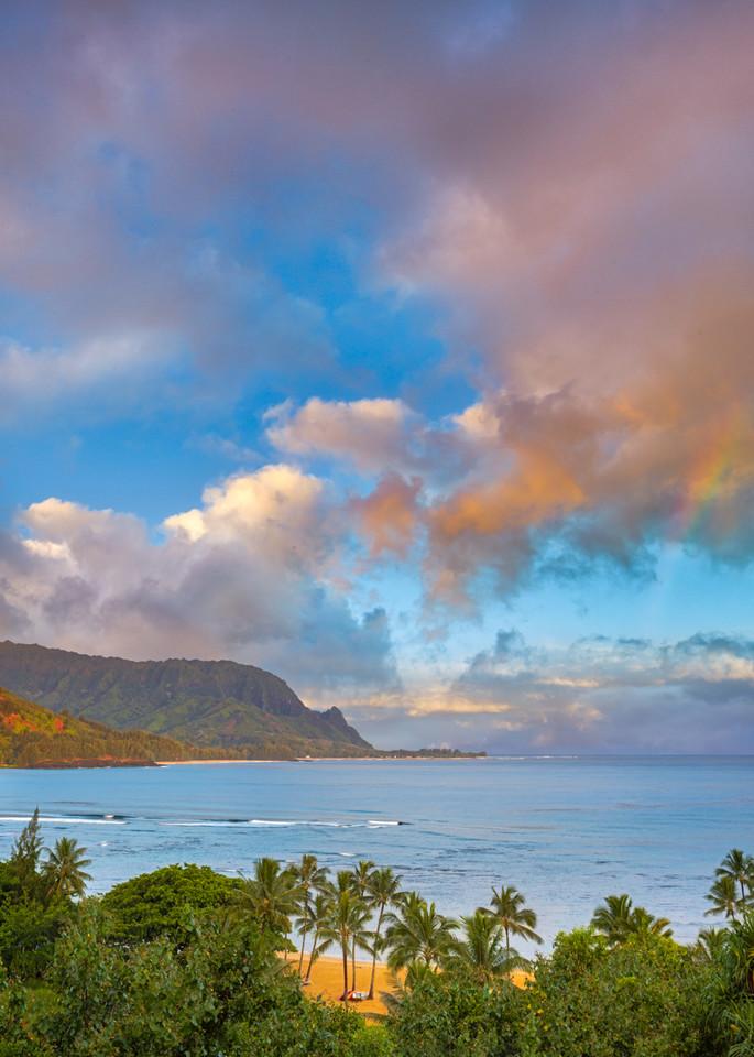photo of sunrise over Hanalei Bay