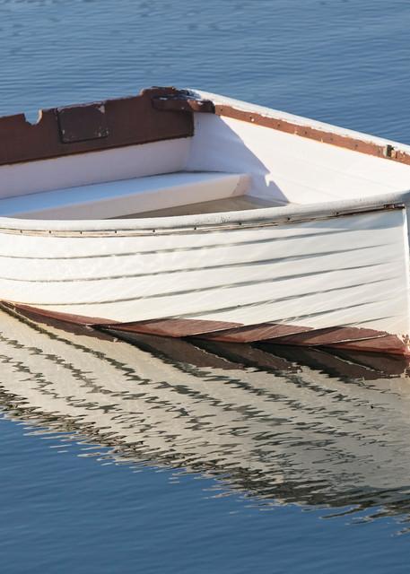 """Meme's Boat II"" Fine Art Rockport Harbor, MA Rowboat Photograph"