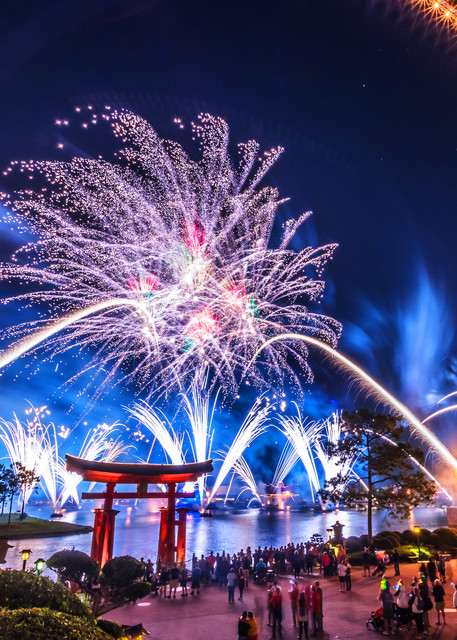 Epcot Fireworks Spectacular 6 - Disney Art | William Drew