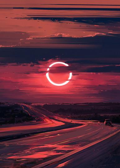 Alena Aenami Eclipse 1k Art | famous