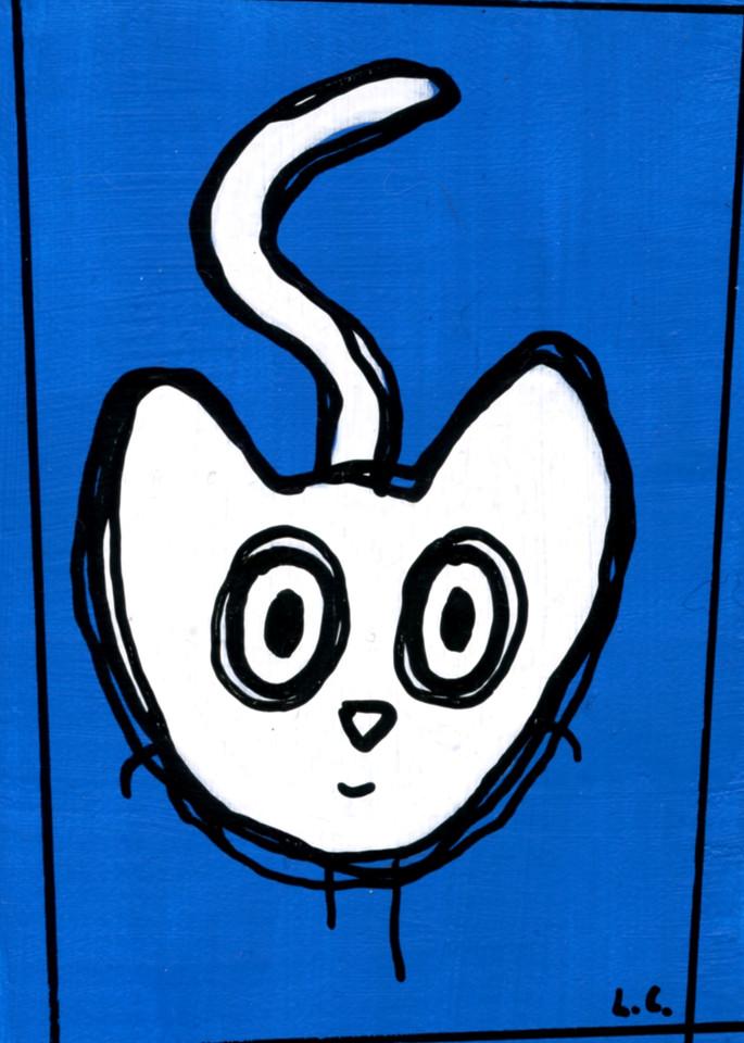 Little Blue Cat Art   Laura Coffee