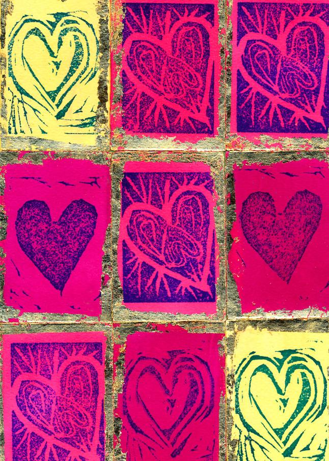 Nine Hearts Art   Pam White Art