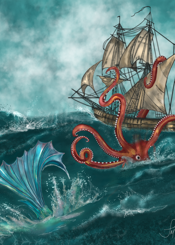 Kraken and the Mermaid