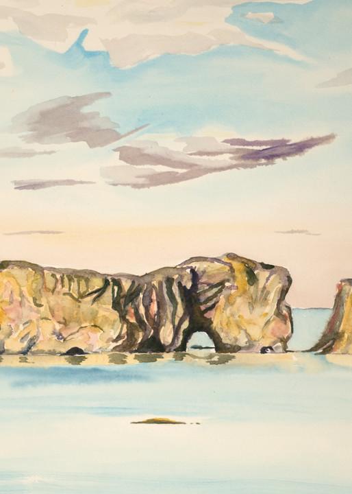 Pierced Rock, Perce Canada Art for Sale
