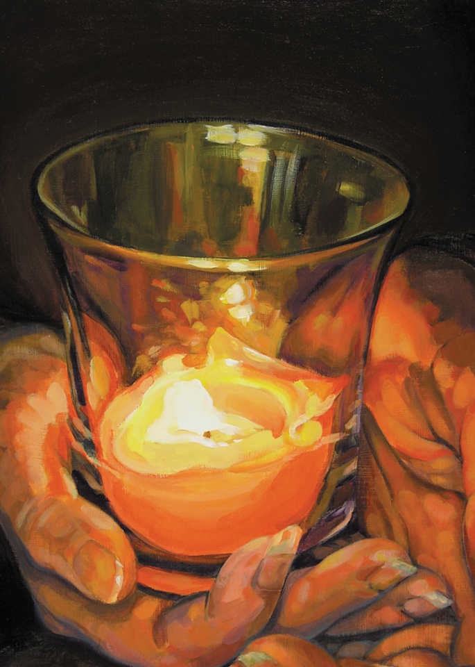 Hands by Candlelight Print