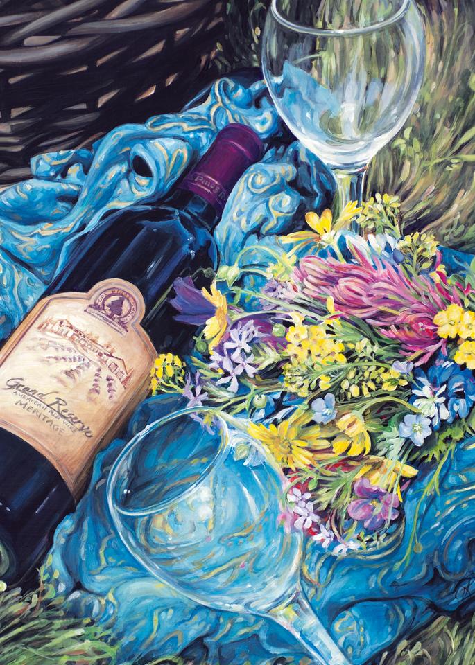 Texas Wine and Wildflowers Print