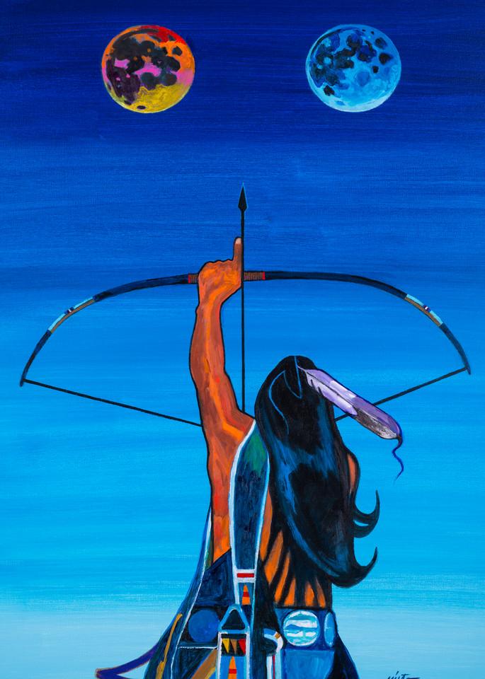 Two Moons | John Nieto Art Open Edition Giclee