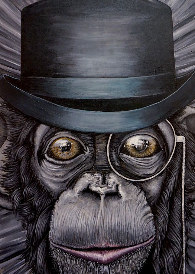 Sir Chimpston Churchill Art   Art by Trev: Trevor Griffin Fine Art
