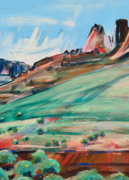 landscape painting steens mountain bitzen gorge