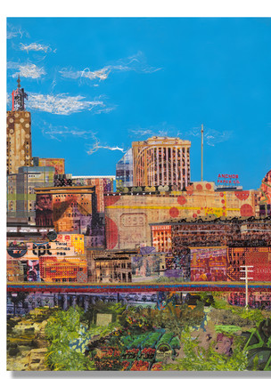 St. Paul Skyline (Triptych) Art | Kristi Abbott Gallery & Studio