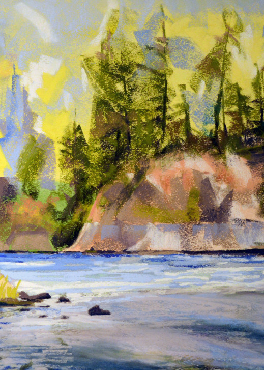 landscape painting willamette valley clackamas river