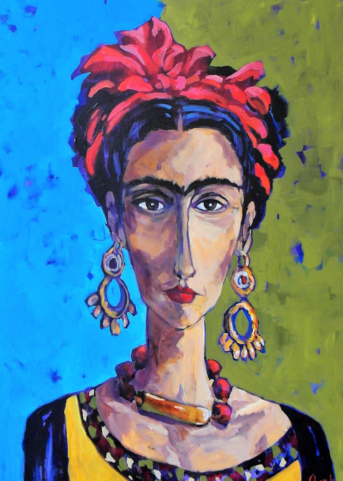 Frida With Red Bow Art | Jill Charuk Art