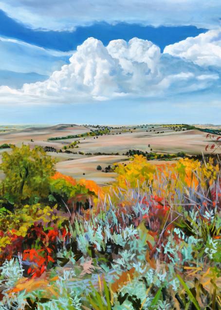 Flint Hills VI  - Oil Painting