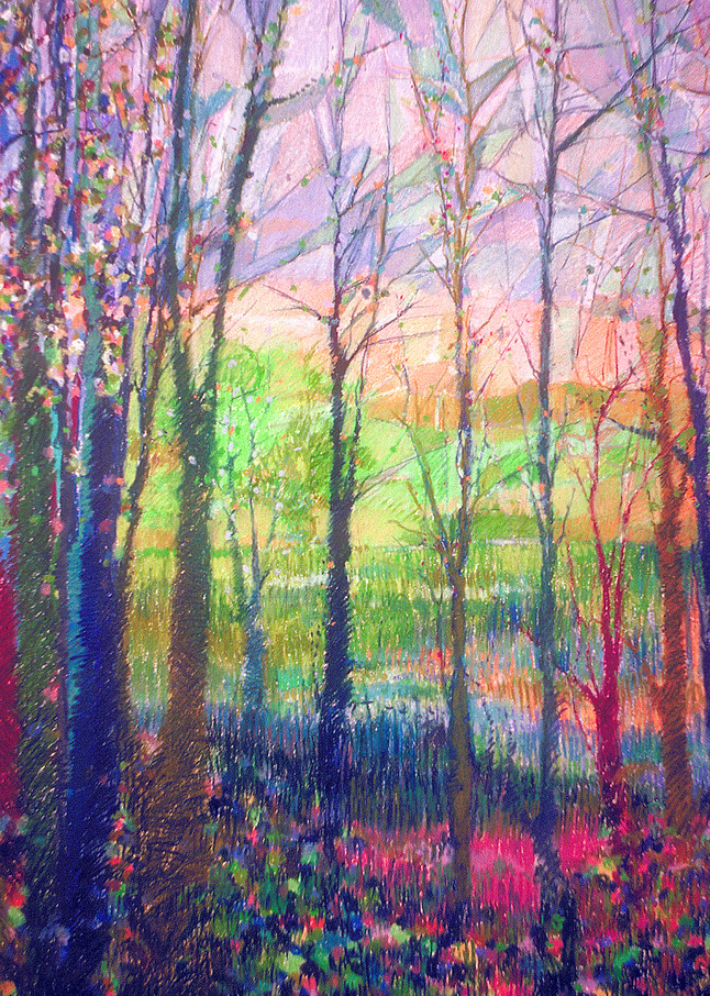 Winter Trees Painting, Fine Art Print by Dorothy Fagan