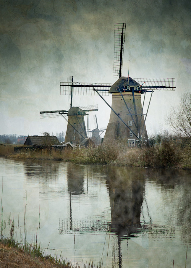 Inspired art, Kinderdijk, Amsterdam, Fine Art Prints, home decoration ideas, Impressionist Painting, Holland