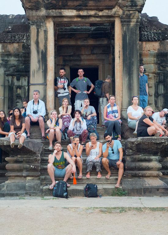 Siem Reap Sunrise Tourists
