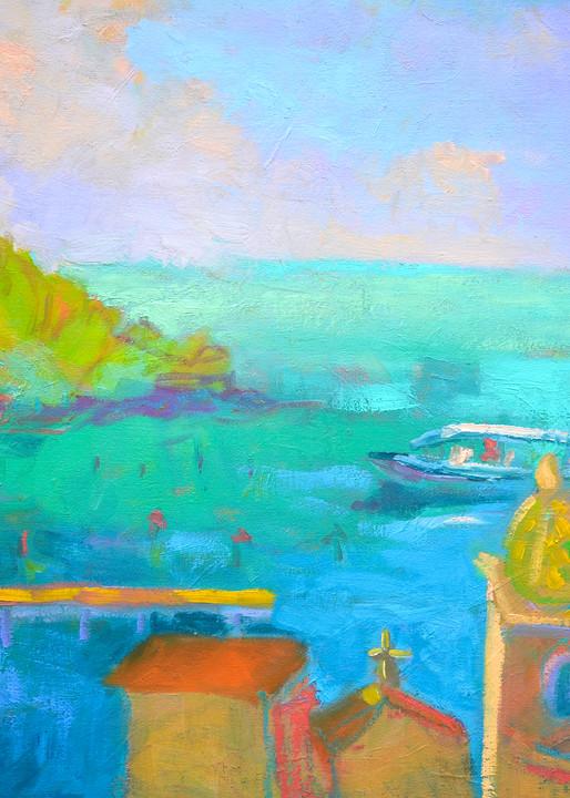 Amalfi Coast Art Print Painting, Marina Grande by Dorothy Fagan