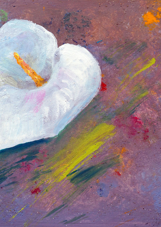 Abstract Flowerbed and Calla - Fine Prints on Canvas, Paper, Metal & More by Irina Malkmus