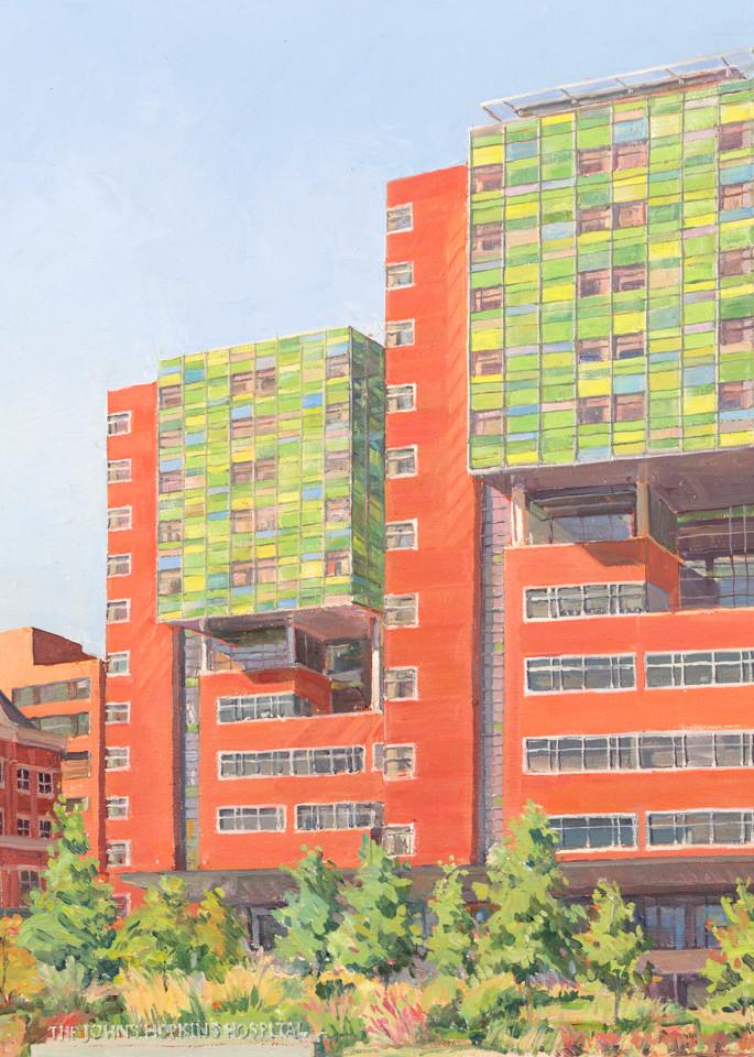Johns Hopkins Zayed Building / Print Art | Crystal Moll Gallery