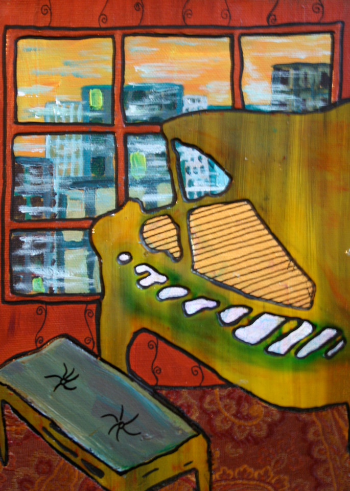 Piano in the Window