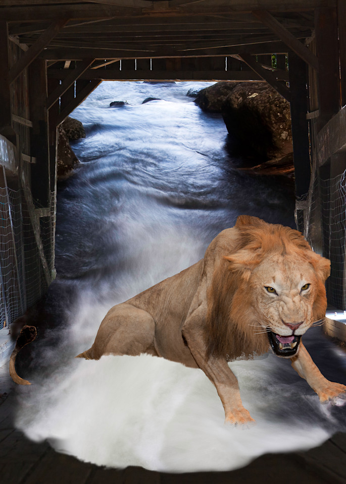 Aesop Fable, Lion, and Mouse, Photo Collage by Vincent DiLeo