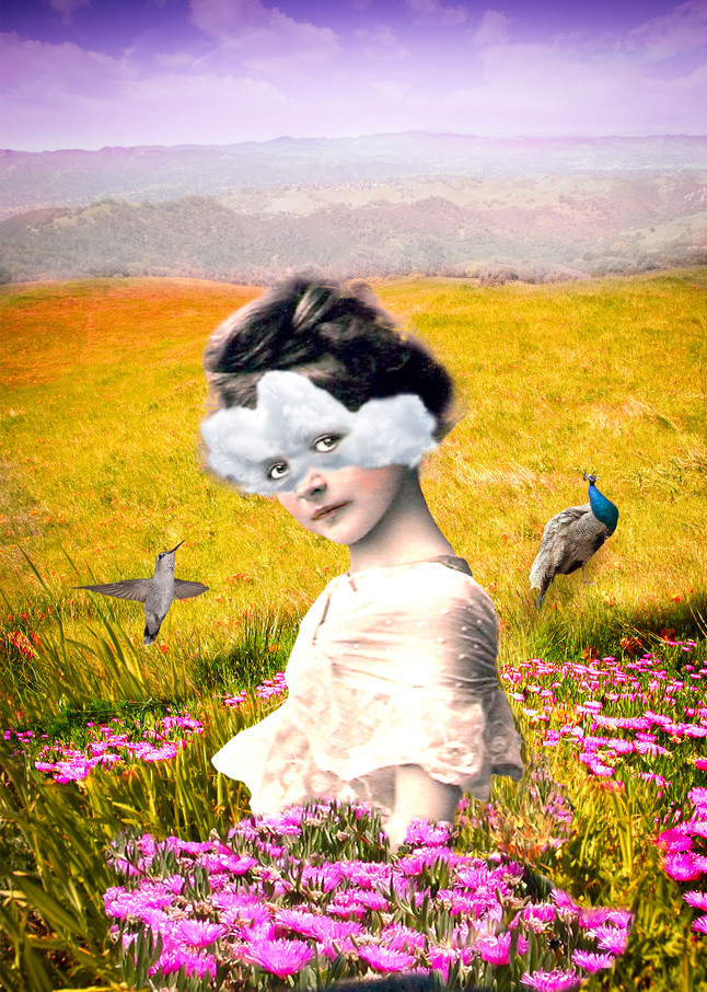 A Scanned Vintage Photo - Surreal Art by Vincent DiLeo