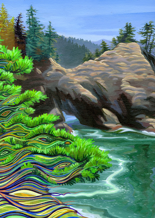 Thunder Rock South Painting by Spencer Reynolds