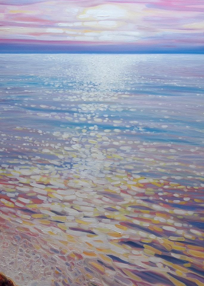 Print Of Sea Watching A Sunset Over The Sea Seascape Art | Gill Bustamante Artist