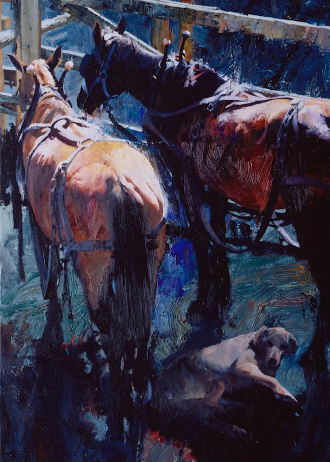 Draft Horses And Dog Art | Lesa Delisi, Fine Arts