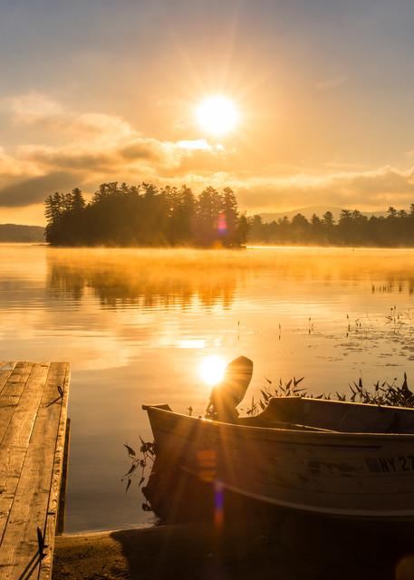 Raquette Lake Sunrise Row Boat Photography Art | Kurt Gardner Photogarphy Gallery