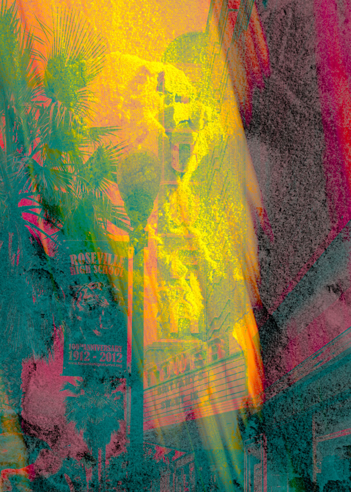 Abstract Photo Art- Photo Collage of Images of Roseville, California