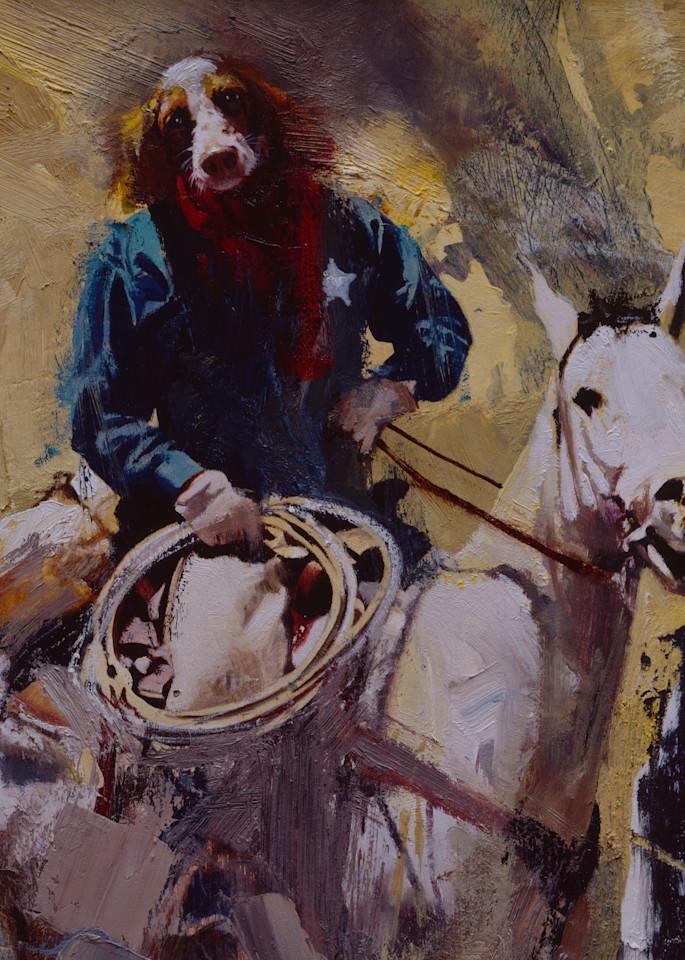 Dog Man Cowbdoy Art | Lesa Delisi, Fine Arts