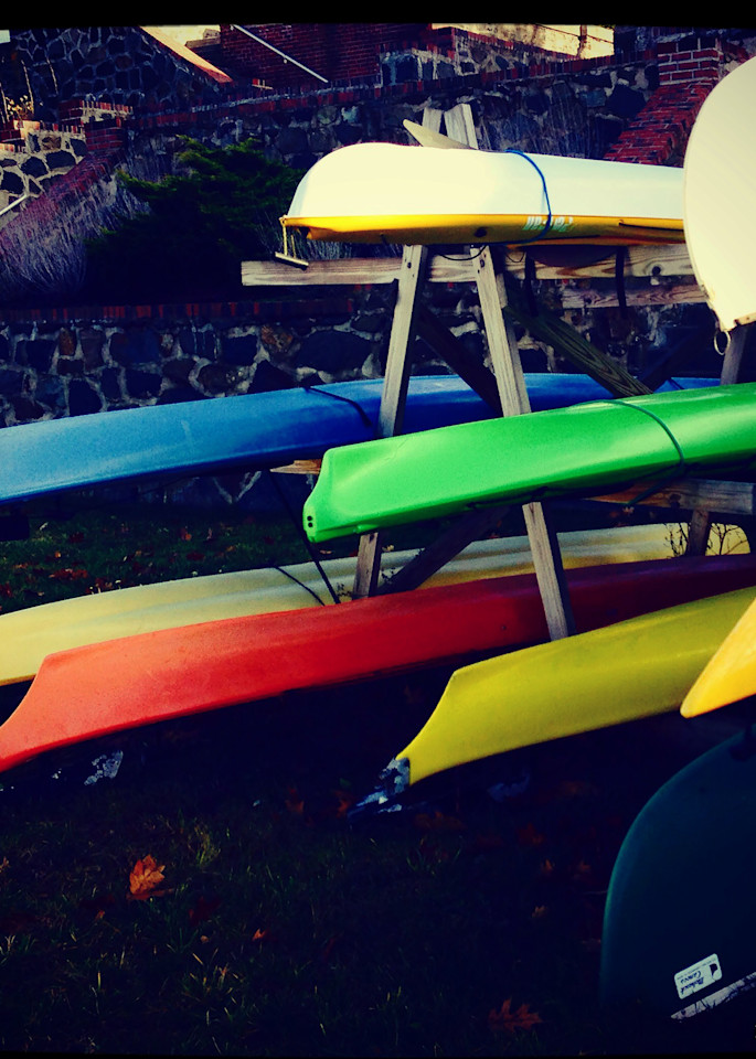 Kayaks Ready, Photo Print