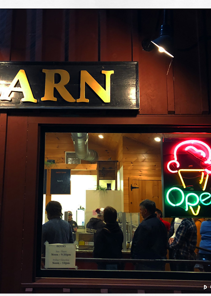 Ice Cream Barn Photo at Night