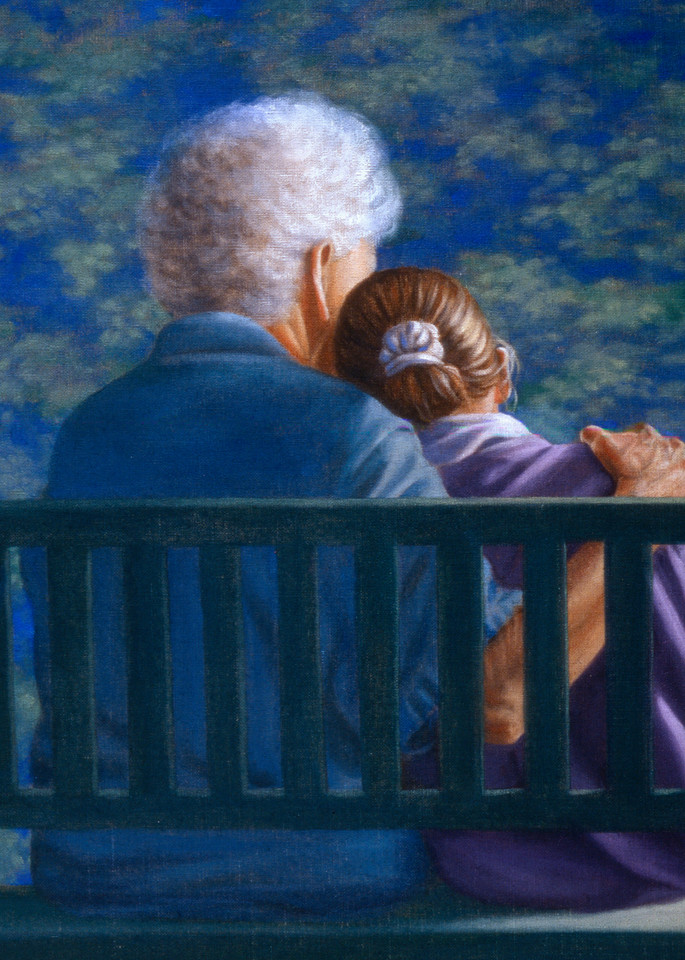 The Memory Box - Always - book by Mary Kay Shanley, - painting by Paul Micich  A touching moment with gramma and grand daughter