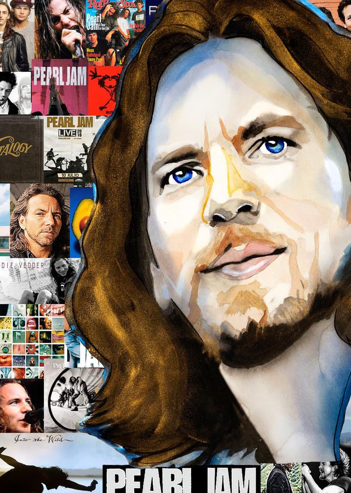 Eddie Vedder Pop Art | William K. Stidham - heART Art