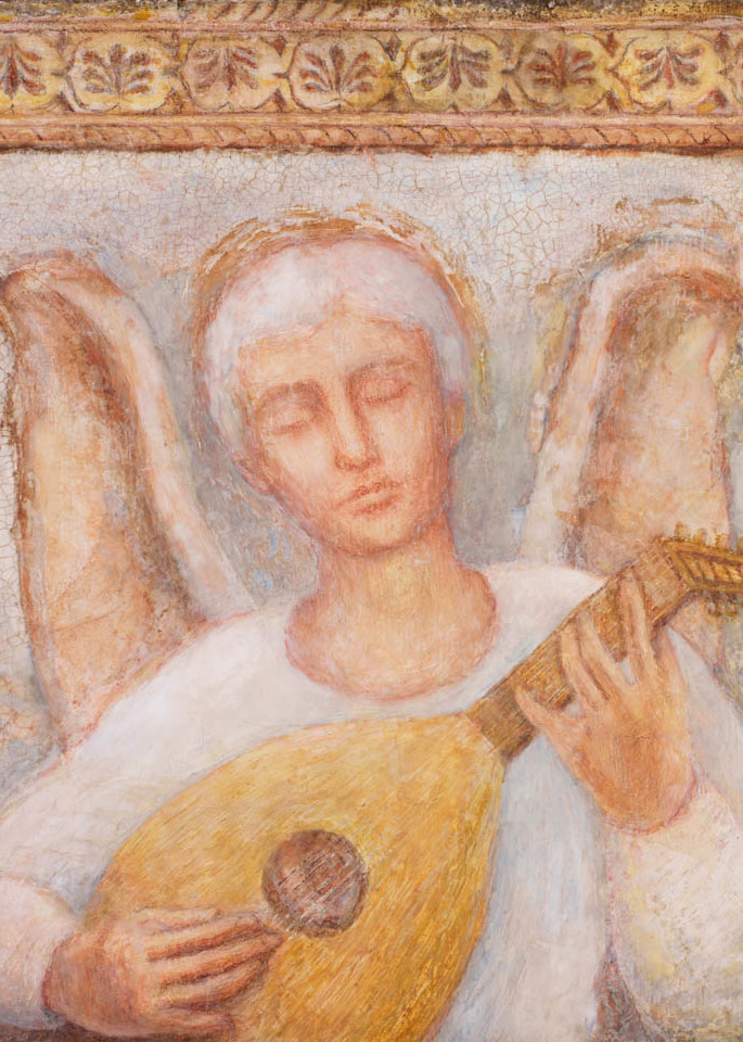 Angel Playing Lute
