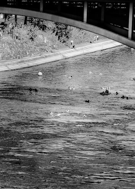 River Swimming In Basel Art   Peter J Schnabel Photography LLC