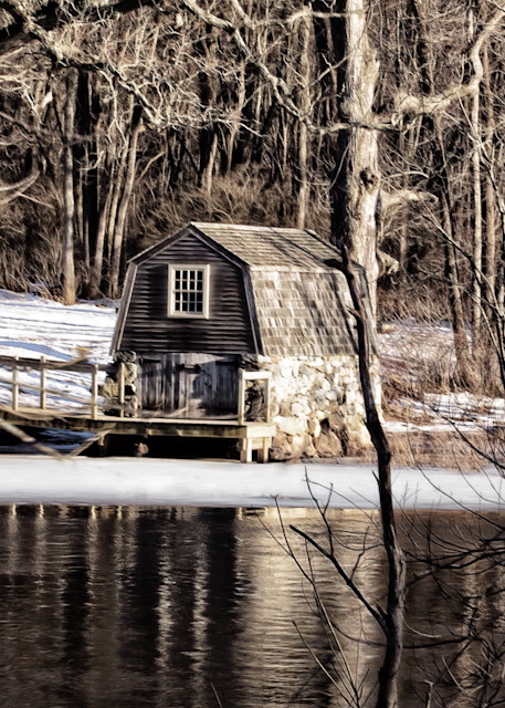 Concord River Boathouse Art | Peter J Schnabel Photography LLC