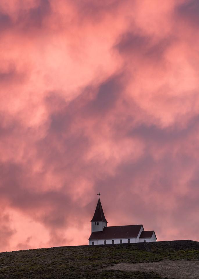Under Fiery Skies - Icelandic church near Vik